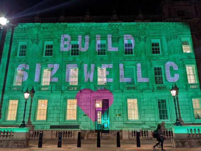 Build Sizewell C projection at the  Cabinet Office