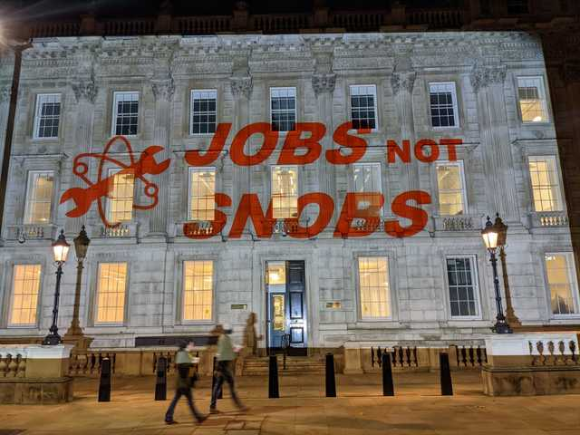 Jobs Not Snobs projection at the Cabinet Office