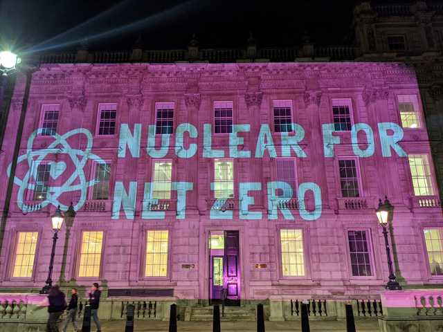 Nuclear For Net Zero projection at the Cabinet Office