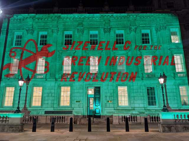 Sizewell C for the Green Industrial Revolution projection at the Cabinet Office