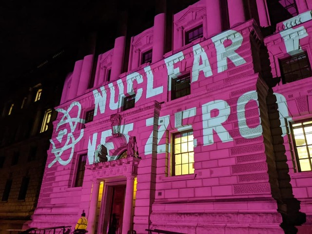 Nuclear For Net Zero projection at the Treasury